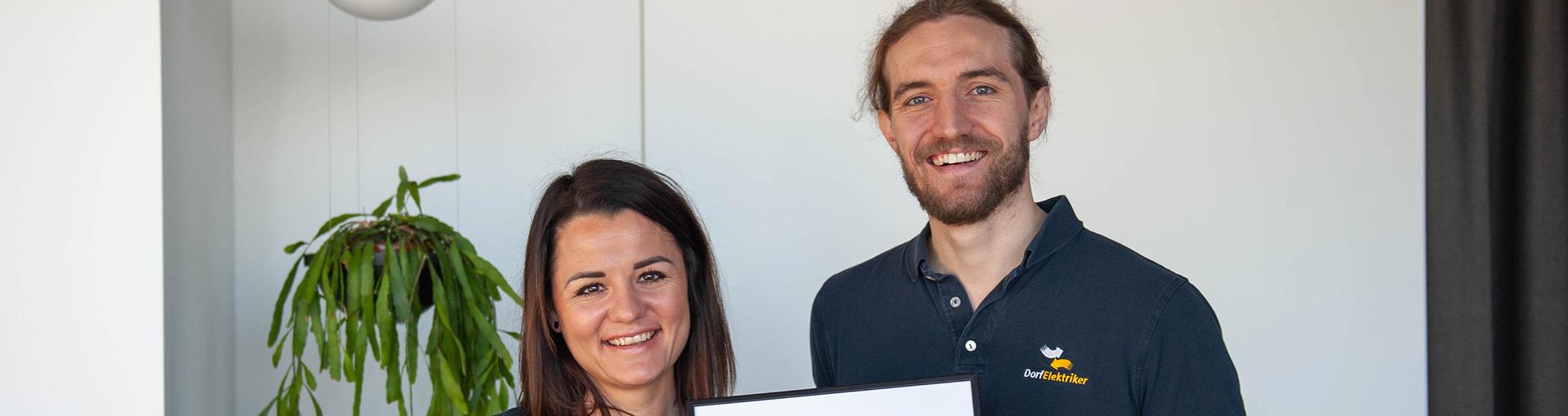 Den VN Klimaschutzpreis in der Kategorie innovative Unternehmen hat die Dorfelektriker Mittelberger GmbH erhalten.