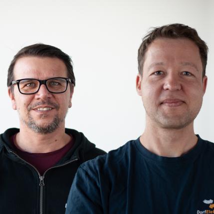 Wolfgang Hörtnagl und Christian Fras, Teamleiter Gewerbe