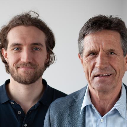 Tim und Herbert Mittelberger, Geschäftsführer der Mittelberger GmbH